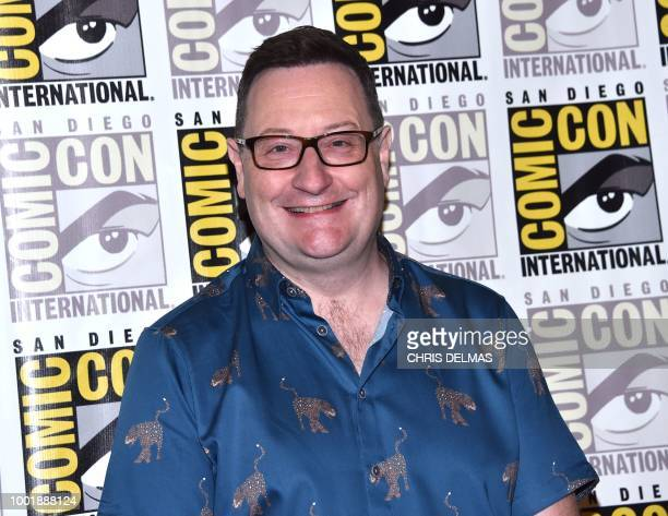 Executive producer Chris Chibnall arrives for the 'Doctor Who' photo call during Comic Con in San Diego July 19 2018