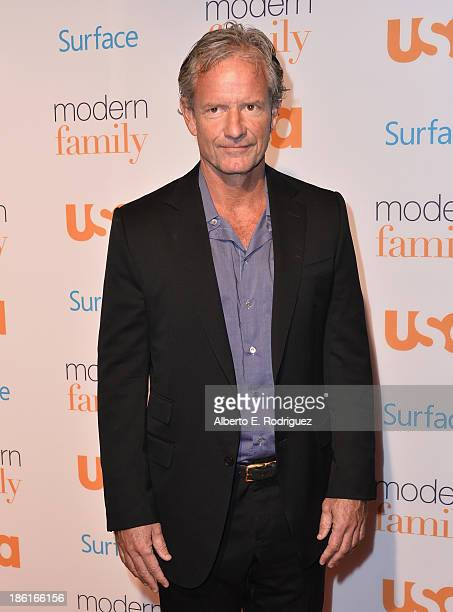 Executive producer Chris Lloyd attends USA Network's 'Modern Family' fan appreciation day at Westwood Village on October 28 2013 in Los Angeles...