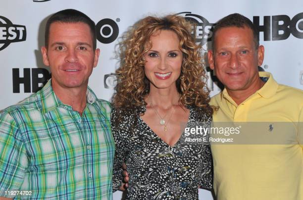 Executive producer Chris Taaffe singer Chely Wright and executive producer Daniel Sladek arrive to the 2011 Outfest Special Screening of Wish Me Away...