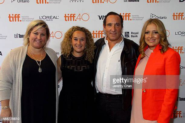 Executive Producer Christina Papagjika Producer Riva Marker Executive Producer Daniel Crown and Producer Daniela Taplin Lundberg attend 'The Family...