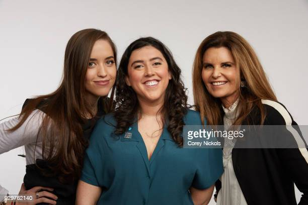 Executive Producer Christina Schwarzenegger Director Alison Klayman and Executive Producer Maria Shriver from the film Take Your Pills pose for a...