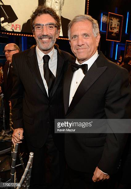 Executive producer Chuck Lorre and President and CEO of CBS Corporation Les Moonves attend AFI's 41st Life Achievement Award Tribute to Mel Brooks at...