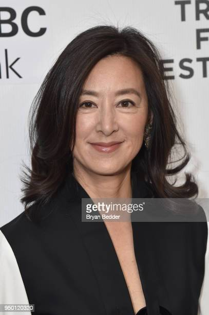 Executive Producer Clara Wu Tsai attends the National Geographic premiere screening of Into the Okavango on April 22 2018 at the Tribeca Film...
