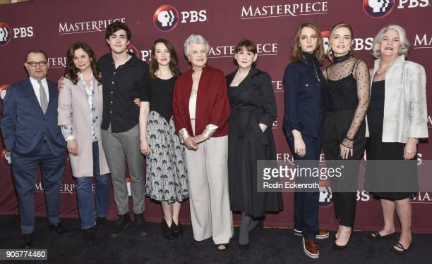 Executive producer Collin Callender actors Emily Watson Jonah HauerKing Annes Elwy Angela Lansbury executive producer/writer Heidi Thomas actors Maya...