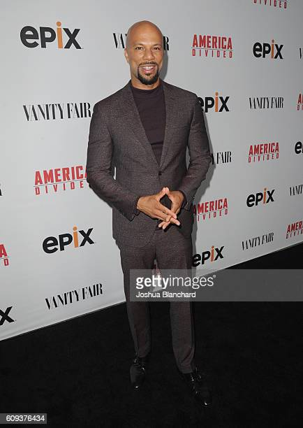 Executive producer Common attends EPIX America Divided LA Premiere at Billy Wilder Theater at The Hammer Museum on September 20 2016 in Westwood...