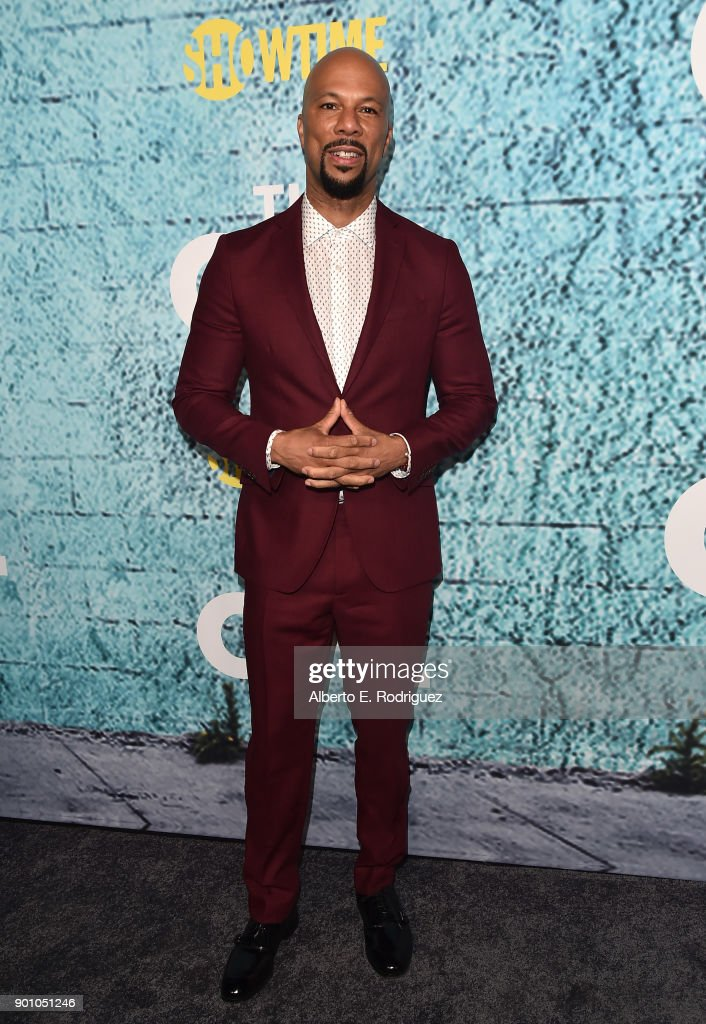 Executive Producer Common attends the premiere of Showtime's 'The Chi' at The Downtown Independent on January 3, 2018 in Los Angeles, California.