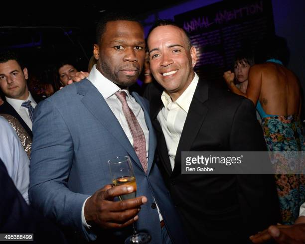 Executive producer Curtis '50 Cent' Jackson and actor Louis Antonio Ramos attend the 'Power' screening after party on June 2 2014 in New York City
