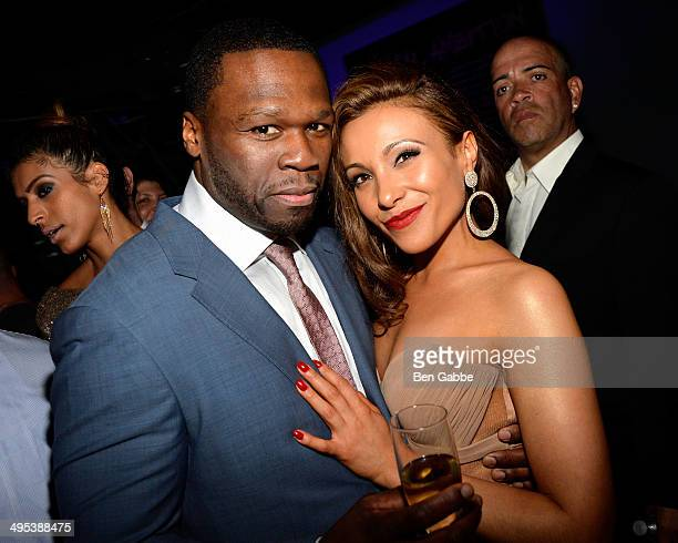 Executive producer Curtis '50 Cent' Jackson and actress Leslie Lopez attend the 'Power' screening after party on June 2 2014 in New York City