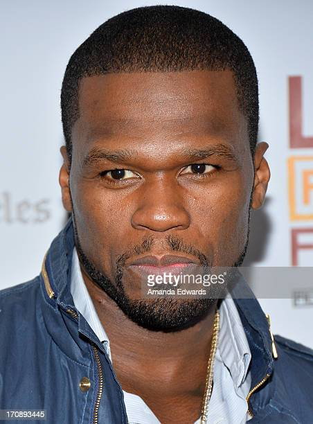 Executive producer Curtis '50 Cent' Jackson attends the 'Tapia' premiere during the 2013 Los Angeles Film Festival at Regal Cinemas LA Live on June...