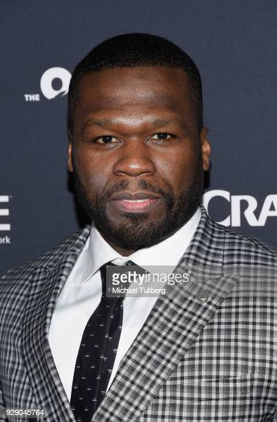 Executive Producer Curtis Jackson aka 50 Cent attends the premiere of Crackle's 'The Oath' at Sony Pictures Studios on March 7 2018 in Culver City...