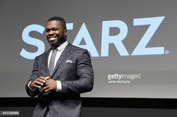 Executive producer Curtis Jackson speaks onstage at STARZ 'Power' New York season three premiere at the SVA Theatre on June 22 2016 in New York City
