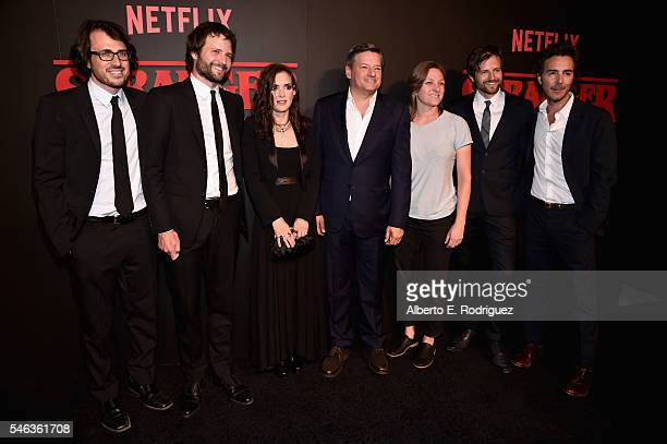 Executive producer Dan Cohen creator/executive producer Ross Duffer actress Winona Ryder Chief Content Officer for Netflix Ted Sarandos VP of...