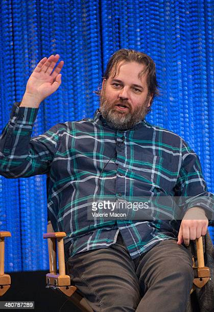 Executive producer Dan Harmon attends The Paley Center For Media's PaleyFest 2014 Honoring Community at Dolby Theatre on March 26 2014 in Hollywood...