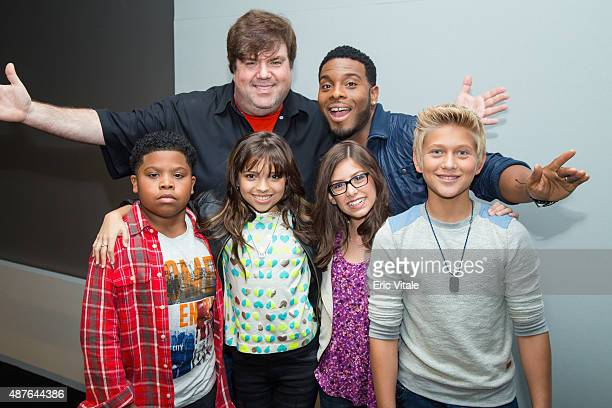 Executive producer Dan Schneider actor Kel Mitchell actors Benjamin Flores Jr Cree Cicchino Madisyn Shipman and Thomas Kuc attend the Apple Store...