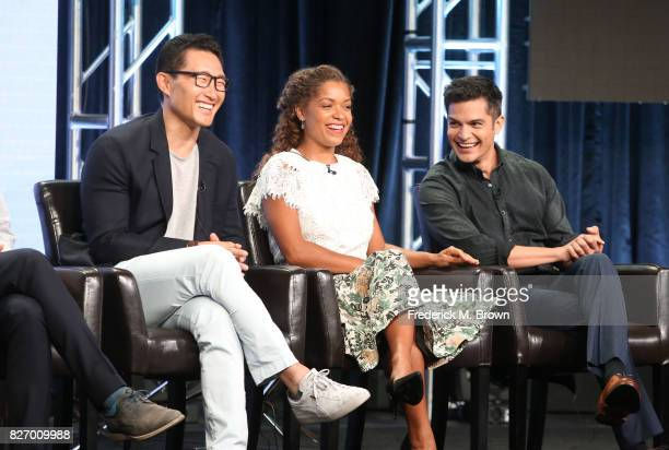 Executive producer Daniel Dae Kim actors Antonia Thomas and Nicholas Gonzalez of 'The Good Doctor' speak onstage during the Disney/ABC Television...