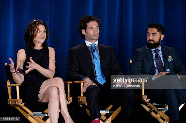 Executive producer Danielle King and cast members Justin Fichelson and Roh Habibi participate in a panel of Million Dollar Listing San Francisco...