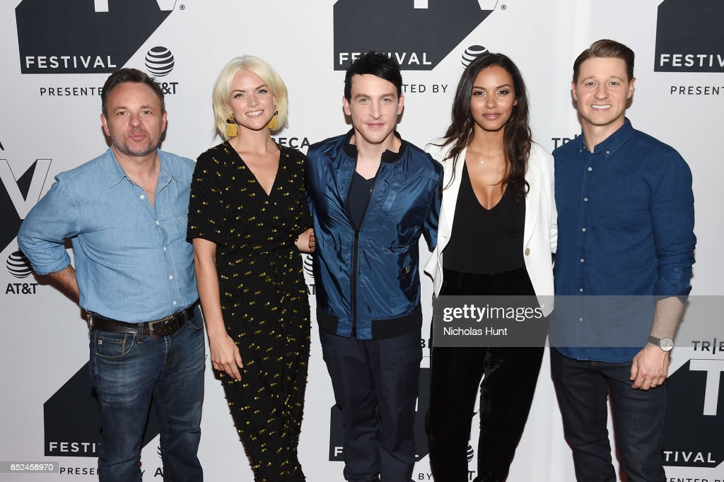 Executive producer Danny Cannon, Erin Richards, Robin Lord Taylor, Jessica Lucas and Ben McKenzie attend the Tribeca TV Festival sneak peek of Gotham at Cinepolis Chelsea on September 23, 2017 in New York City.