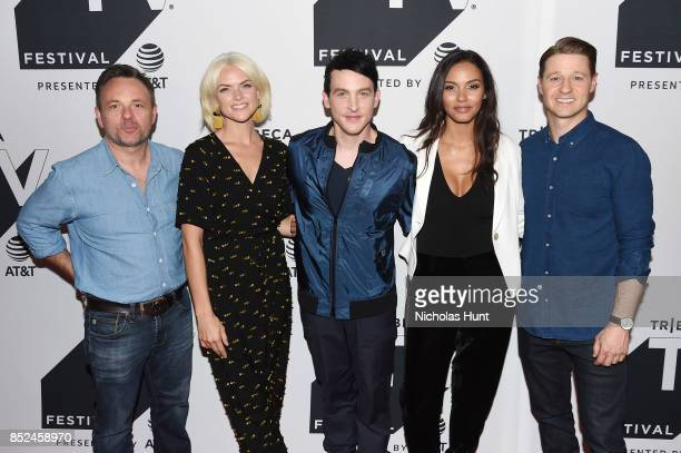 Executive producer Danny Cannon Erin Richards Robin Lord Taylor Jessica Lucas and Ben McKenzie attend the Tribeca TV Festival sneak peek of Gotham at...