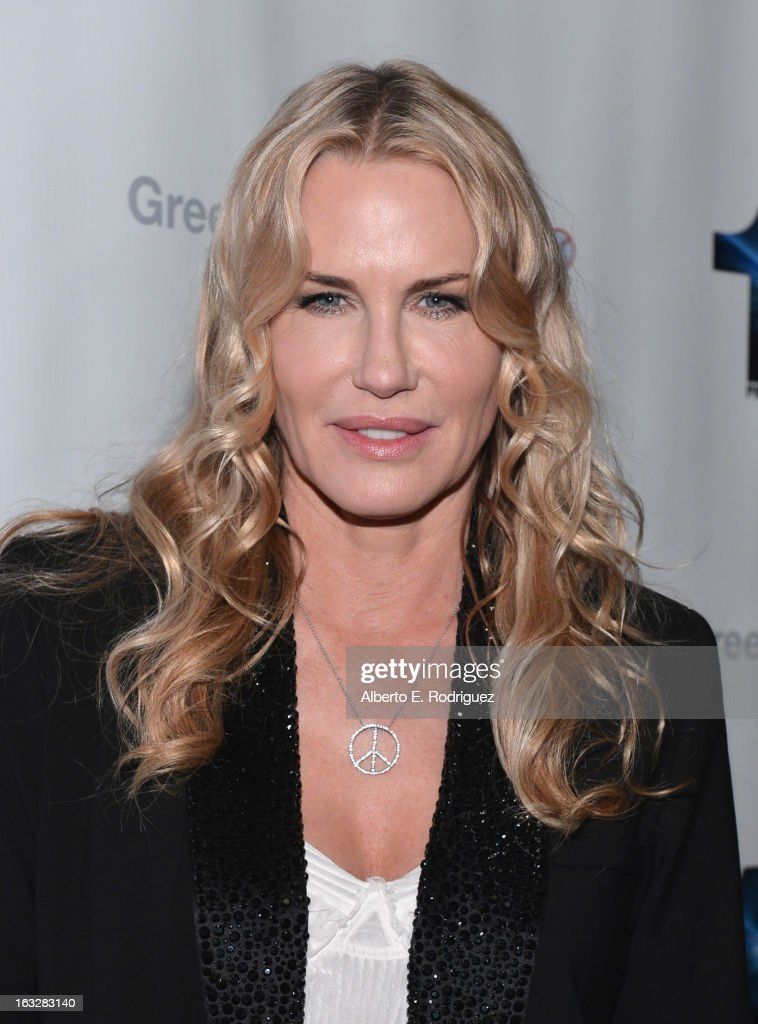 Executive Producer Daryl Hannah attend a screening of 1 Earth Productions' 'Greedy Lying Bastards' at Harmony Gold Theatre on March 6, 2013 in Los Angeles, California.