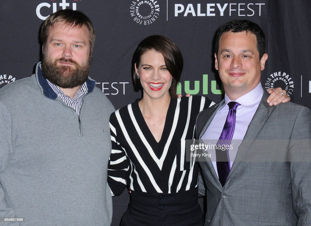 Executive producer Dave Alpert, actress Lauren Cohan and executive producer Robert Kirkman arrive at the Paley Center For Media's 34th Annual PaleyFest Los Angeles opening night presentation 'The Walking Dead' at Dolby Theatre on March 17, 2017 in Hollywood, California.