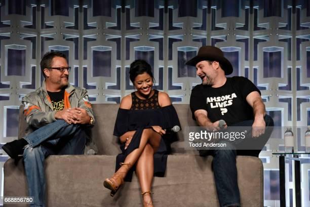 REBELS Executive Producer Dave Filoni Steve Blum Taylor Gray Tiya Sircar Freddie Prinze Jr and Vanessa Marshall from Star Wars Rebels attend Star...
