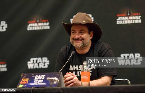 "Executive Producer Dave Filoni, Steve Blum, Taylor Gray, Tiya Sircar, Freddie Prinze Jr, and Vanessa Marshall from ""Star Wars Rebels"" attend Star..."