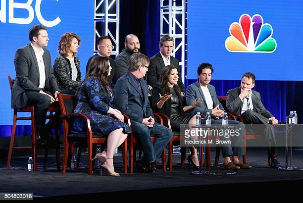 Executive producer David Bernad actors Nichole Bloom Nico Santos Colton Dunn and executive producer Ruben Fleischer Actors Lauren Ash Mark McKinney...