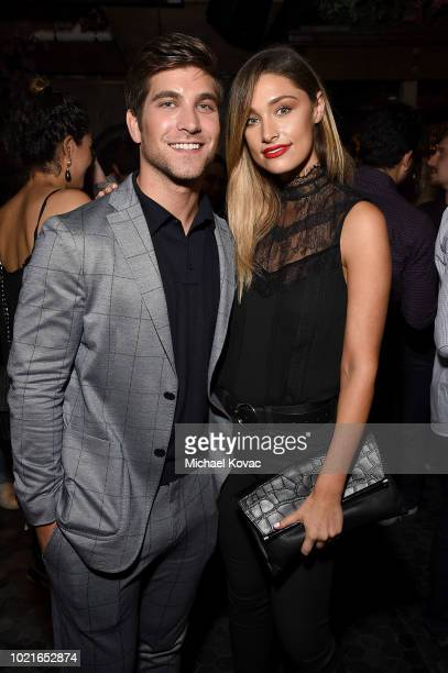 Executive producer David Bernon and model Jodi Lee attend the after party of the Los Angeles Premiere of Support The Girls on August 22 2018 in Los...