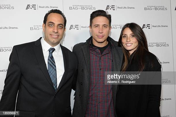 Executive Producer David Davoli actor Erik Palladino and wife Jaime Lee attend AE's premiere party event for Stephen King's Bag of Bones at Fig Olive...