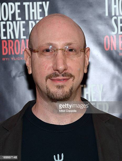 """Executive producer David F. Schwartz poses for a picture before the Off-Broadway opening night of Tucker Max's """"I Hope They Serve Beer on Broadway""""..."""