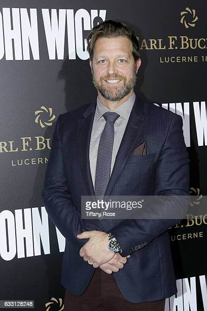 Executive producer David Leitch attends the premiere of 'John Wick Chapter 2' sponsored by Carl F Bucherer at ArcLight Hollywood on January 30 2017...