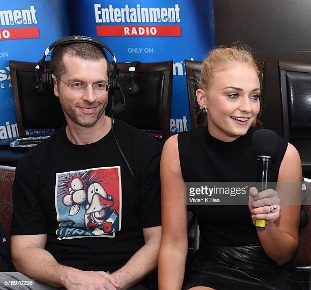 Executive producer DB Weiss and actress Sophie Turner attend SiriusXM's Entertainment Weekly Radio Channel Broadcasts From ComicCon 2016 at Hard Rock...