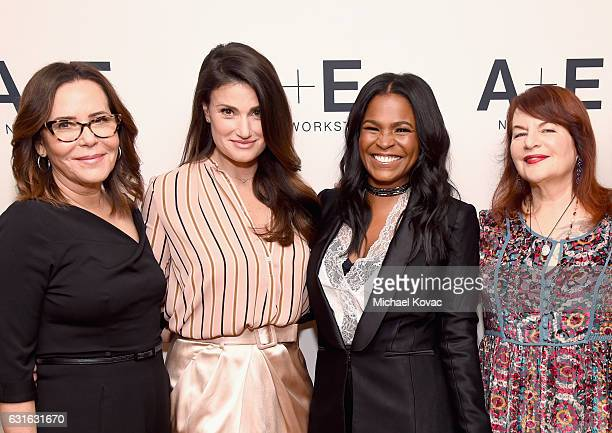 Executive producer Denise Di Novi actors Idina Menzel Nia Long and director Allison Anders of 'Beaches' attend the Lifetime portion of the 2017...
