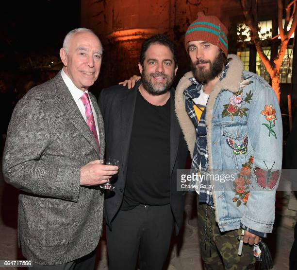 Executive producer Dick Rosenzweig producer Brett Ratner and actor Jared Leto attend Amazon Original Series 'American Playboy The Hugh Hefner Story'...