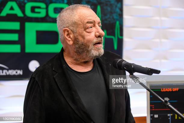 """Executive Producer Dick Wolf attends the """"Chicago Med"""" 100th episode cake cutting at Cinespace on January 28, 2020 in Chicago, Illinois."""