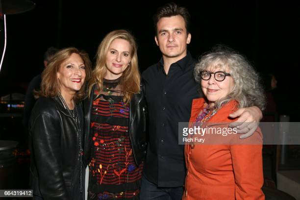 Executive producer/ director Lesli Linka Glatter actress Aimee Mullins actor Rupert Friend and and actress Kathryn Grody attend the ATAS Emmy...