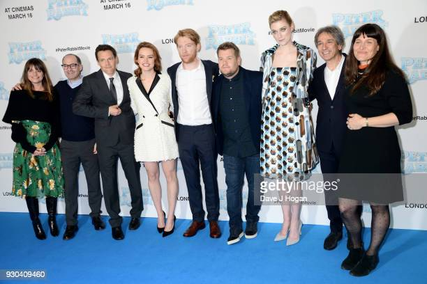 Executive producer Doug Belgrad director Will Gluck Daisy Ridley Domhnall Gleeson James Corden Elizabeth Debick producer Zareh Nalbandian and...