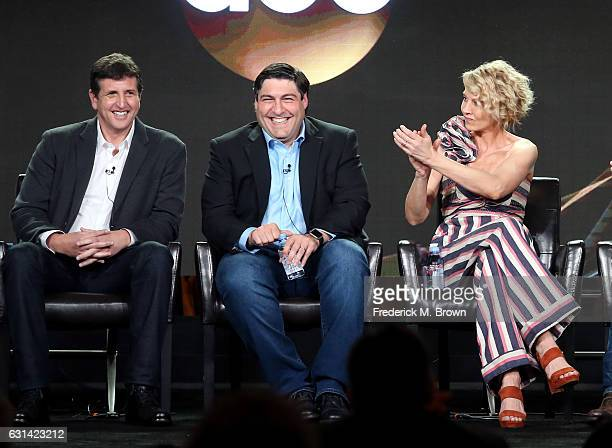 Executive Producer Doug Robinson Creator/Executive Producer Adam F Goldberg and actress Jenna Elfman of the television show 'Imaginary Mary' speak...