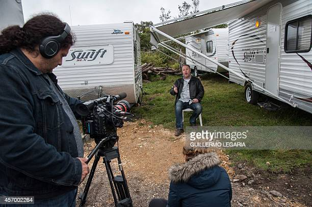 US executive producer Eric Brenner speaks during an interview with AFP as he takes a break from shooting the movie Blunt Force Trauma on October 8...