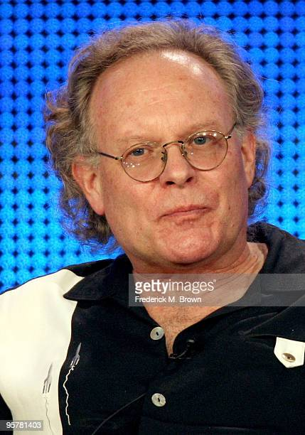 """Executive producer Eric Overmyer of """"Treme"""" speaks during the HBO portion of the 2010 Television Critics Association Press Tour at the Langham Hotel..."""