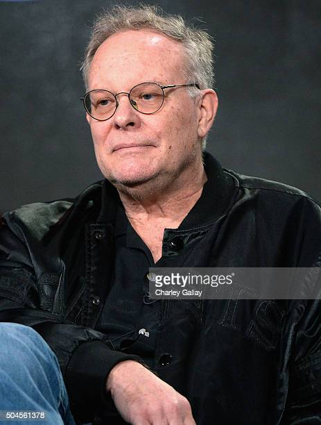 Executive producer Eric Overmyer sits on the panel for Bosch during the Amazon Winter 2016 Television Critics Association Session at Langham Hotel on...