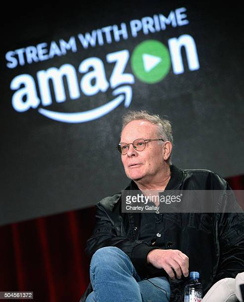 Executive producer Eric Overmyer speaks on the panel for Bosch during the Amazon Winter 2016 Television Critics Association Session at Langham Hotel...
