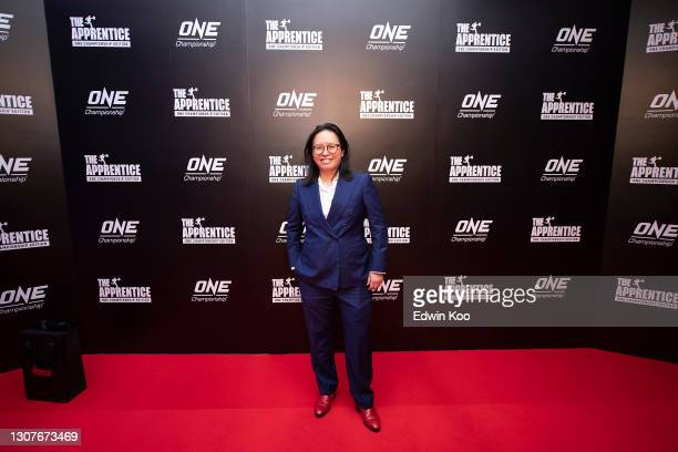 Executive Producer & Founder Refinery Media Karen Seah arrives at the premiere of The Apprentice: One Championship Edition at Andaz Singapore on...