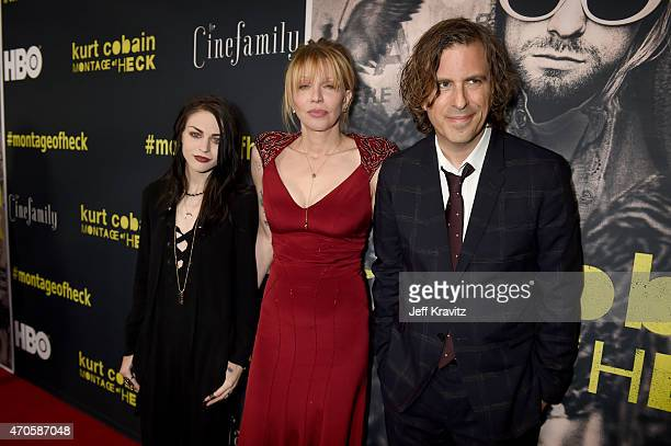 Executive Producer Frances Bean Cobain singer/songwriter/actress Courtney Love and Director/Writer/Producer Brett Morgen attend HBO's Kurt Cobain...