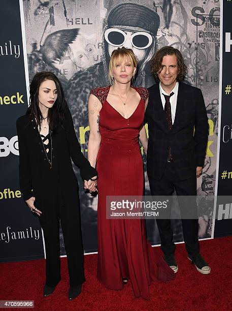 Executive Producer Frances Bean Cobain singer/songwriter/actress Courtney Love and Director/Writer/Producer Brett Morgen attend HBO's 'Kurt Cobain...