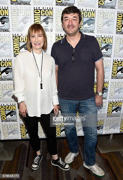 Executive producer Gale Anne Hurd and writer/executive producer Blake Masters attend Falling Water Press Line during ComicCon International 2016 at...