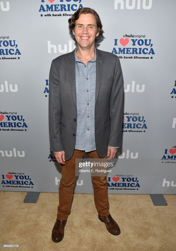 Executive producer Gavin Purcell attends a photo op for Hulu's 'I Love You America' with Sarah Silverman at Chateau Marmont on October 11, 2017 in Los Angeles, California.