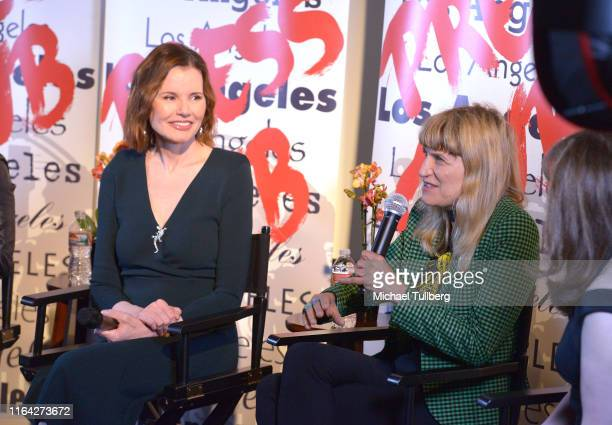 """Executive producer Geena Davis and director Catherine Hardwicke speak at a Q&A session at a screening of Donahue's documentary """"This Changes..."""