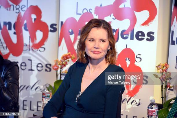 """Executive producer Geena Davis speaks at a Q&A session at a screening of Donahue's documentary """"This Changes Everything"""" on July 25, 2019 in Los..."""