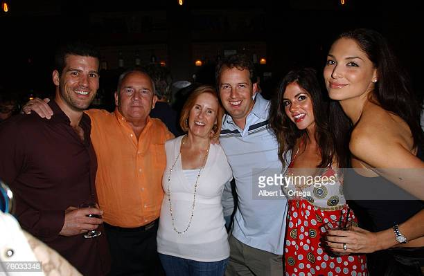 Executive producer Geoff Pence guest producer Bryan Brucks actress Alison Waite and actress Blanca Soto attend the wrap party for the motion picture...